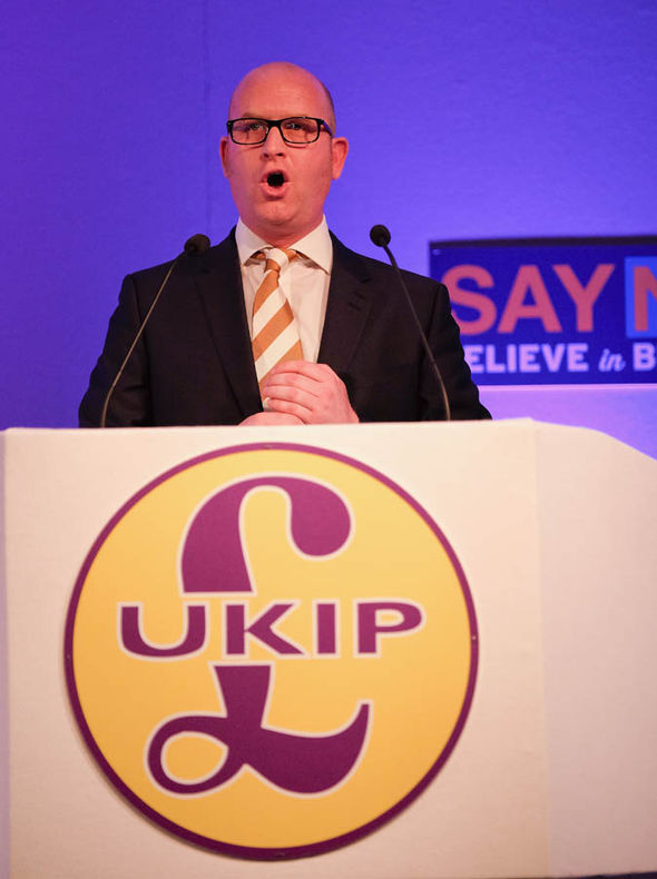 Paul Nuttall of the Ukips