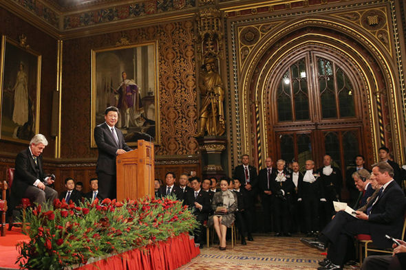 Chinese President Xi Jinping speaks