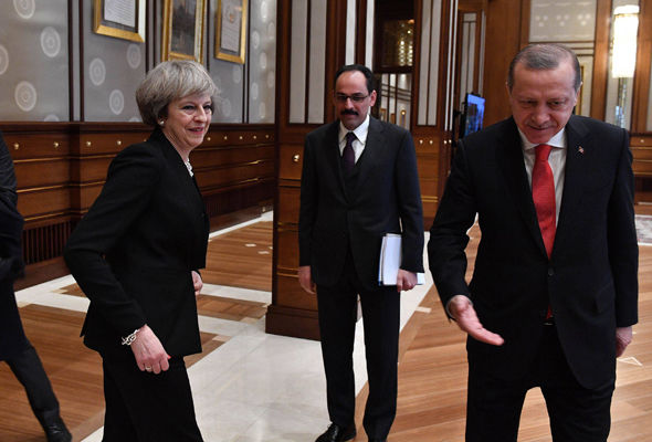 Theresa May will spend one day in Turkey