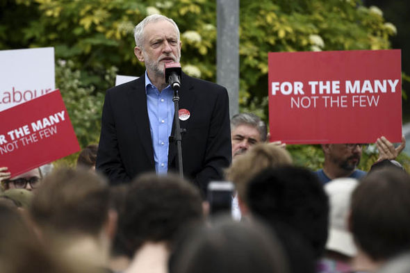 Jeremy Corbyn campaigning for the Labour Party