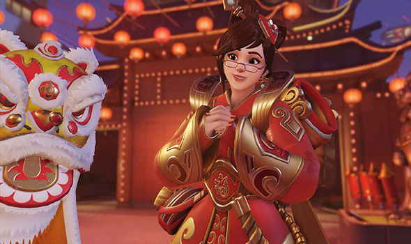 Overwatch year of the rooster skins bug update Mei