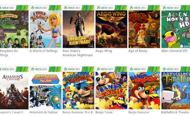 Xbox One Backward Compatibility Four Games Launched By