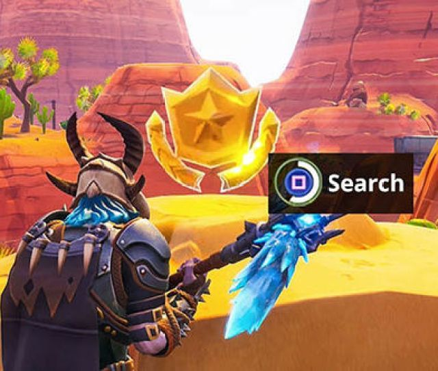 Fortnite Search Between Oasis Rock And Dinosaurs