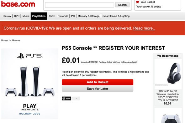 Ps5 Pre Order News Reserve Your Place In The Queue For