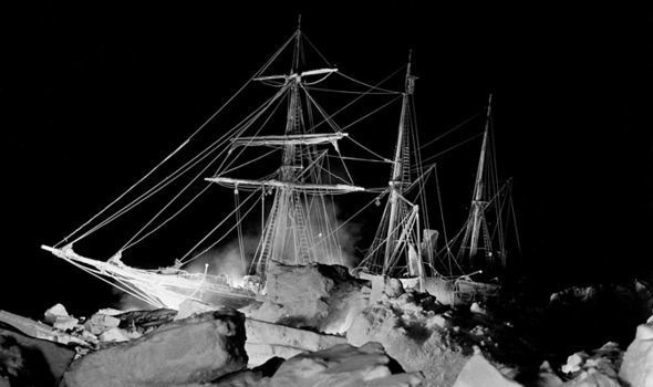 Sir Ernest Shackleton's ship, the 'Endurance', in the Weddell Sea, Antarctica.