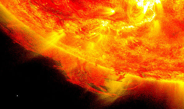 Red hyper giant VY Canis Majoris and our sun