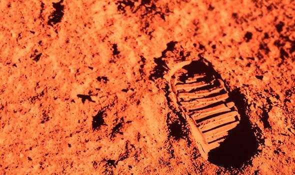 Footprint on Mars