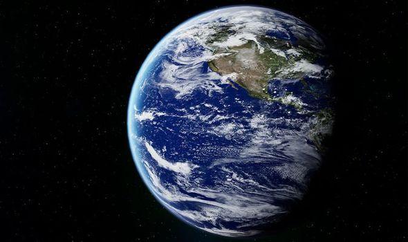 Earth seen in space