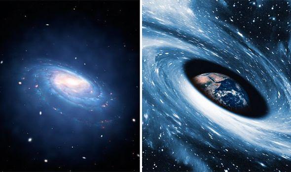 galaxy hurtling towards us