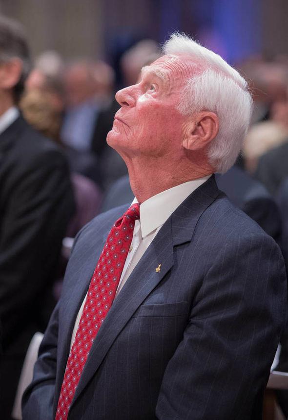 Eugene Cernan at memorialservice