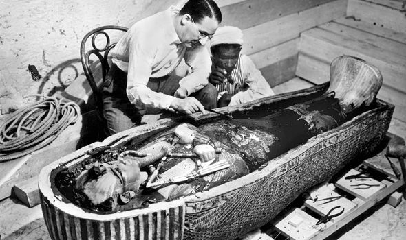 Howard Carter: The British archaeologist pictured shortly after he discovered Tutankhamun's tomb