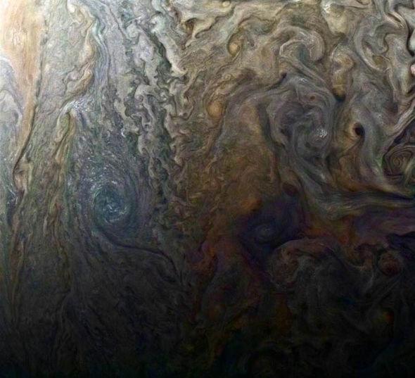 Close up Jupiter's winds