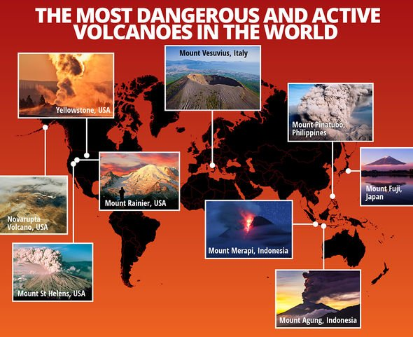 Most dangerous volcanoes in the world mapped out
