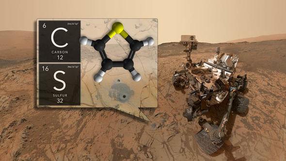 NASA life on Mars organic matter Curiosity Rover