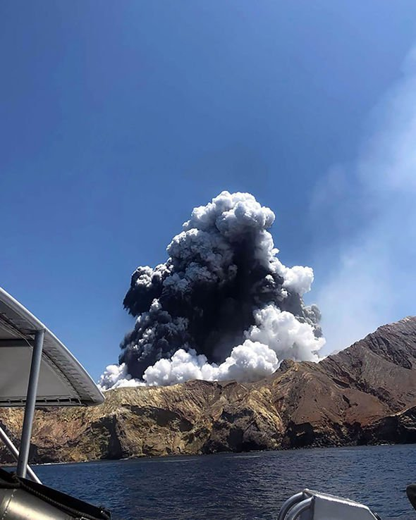 Tourists watched in horror as the volcano erupted on December 9