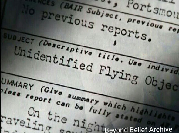 The official AF UFO report
