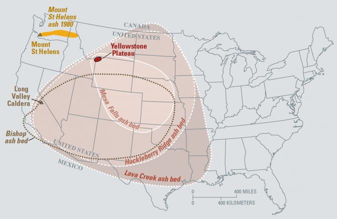 Yellowstone Volcano: Caldera MAP Shows USA Covered In ASH