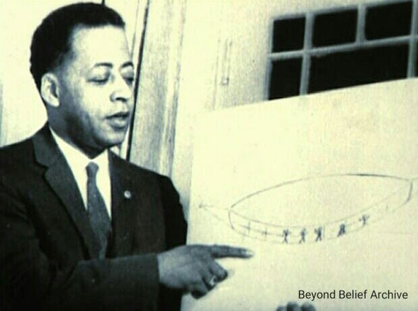 Barney with his drawings in 1951