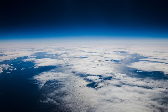 Earth's oxygen-rich atmosphere seen from space