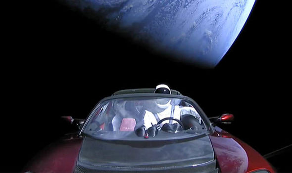 Elon Musk Car In Spac Wallpaper Spacex Launch Watch Falcon Heavy Send Car Into Space