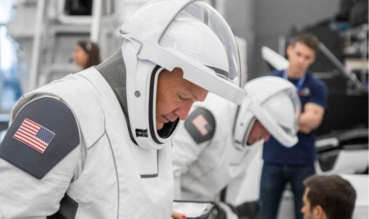 NASA news: Astronauts gear up in sleek SpaceX spacesuits ...