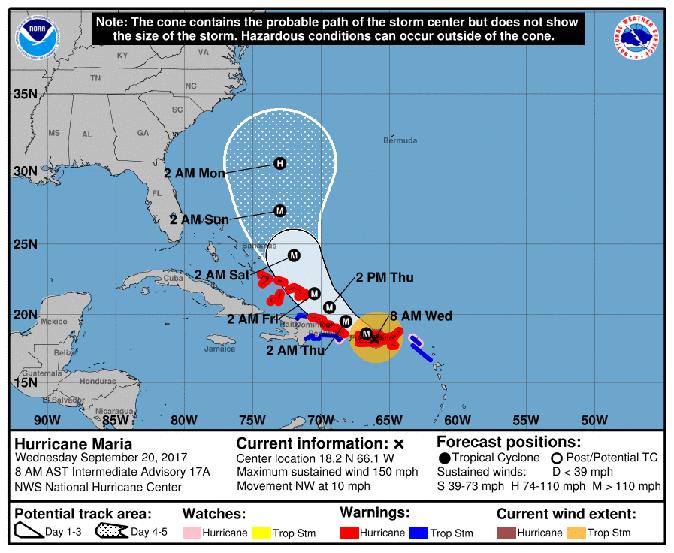 Hurricane Maria Will Hurricane Maria hit North Carolina