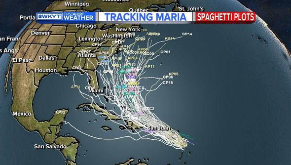 Hurricane Maria spaghetti models