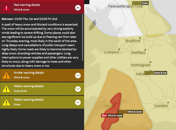 South West weather snow