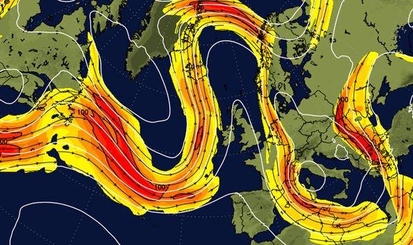 UK weather forecast jet stream