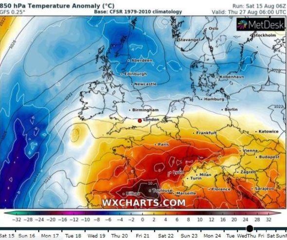UK hot weather forecast: Long-range chart shows WARM ...
