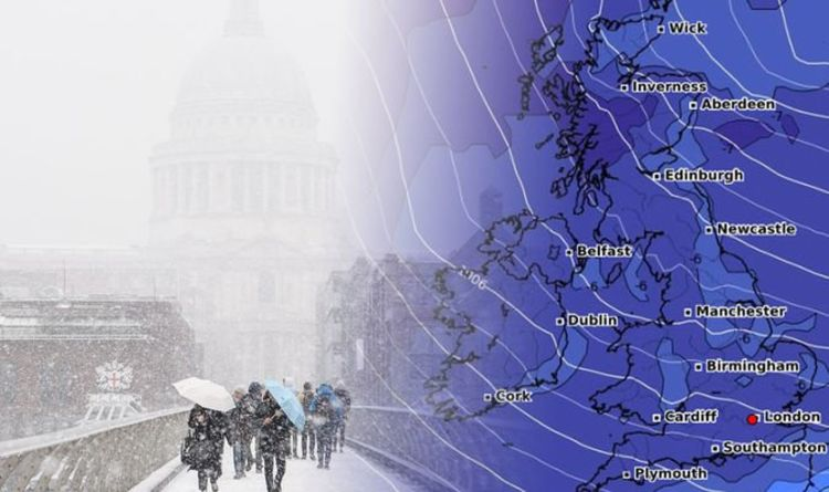 UK snow forecast MAP: Hellish 17-inch snowstorm to hit Britain next week Weather   news