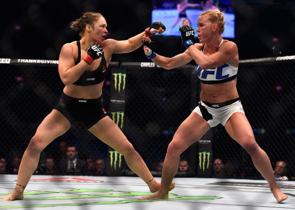 Ronda Rousey and Holly Holm