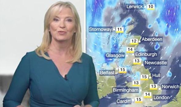BBC weather forecast: STORM Hector to STRIKE Britain with 70MPH winds warns Carol Kirkwood