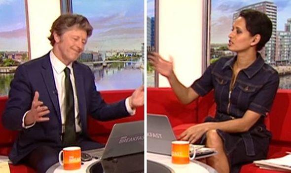 Charlie Stayt hits back at Naga Munchetty after cheeky jibe 'No!' | TV & Radio | Showbiz & TV | Express.co.uk