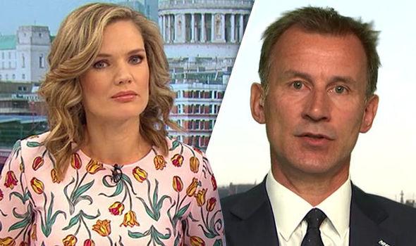 Charlotte Hawkins and Jeremy Hunt
