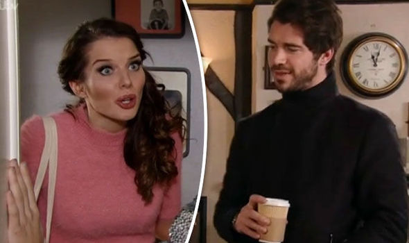 Rosie Webster and Adam Barlow on Coronation Street