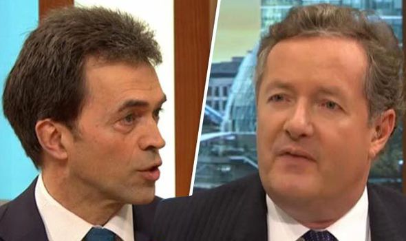 Tom Brake and Piers Morgan on GMB