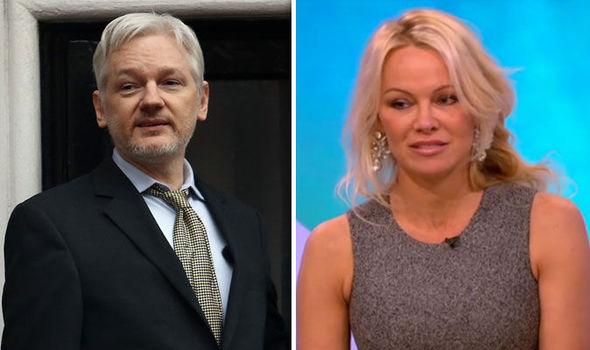 Julian Assange and Pamela Anderson