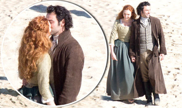 Poldark Series 2 Aidan Turner Shares Romantic Kiss With