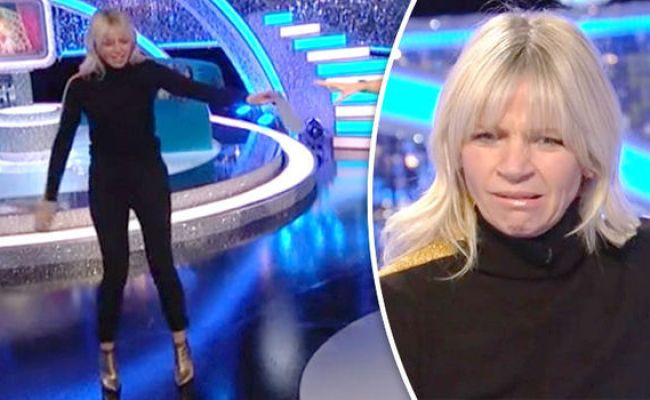 Strictly Come Dancing 2017 Zoe Ball Stumbles Off It Takes