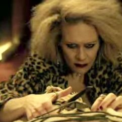 Hanging Chair From Ceiling Dining Room Arm Chairs American Horror Story: Hotel Trailer Gives Terrifying Glimpse Of Lady Gaga | Tv & Radio ...