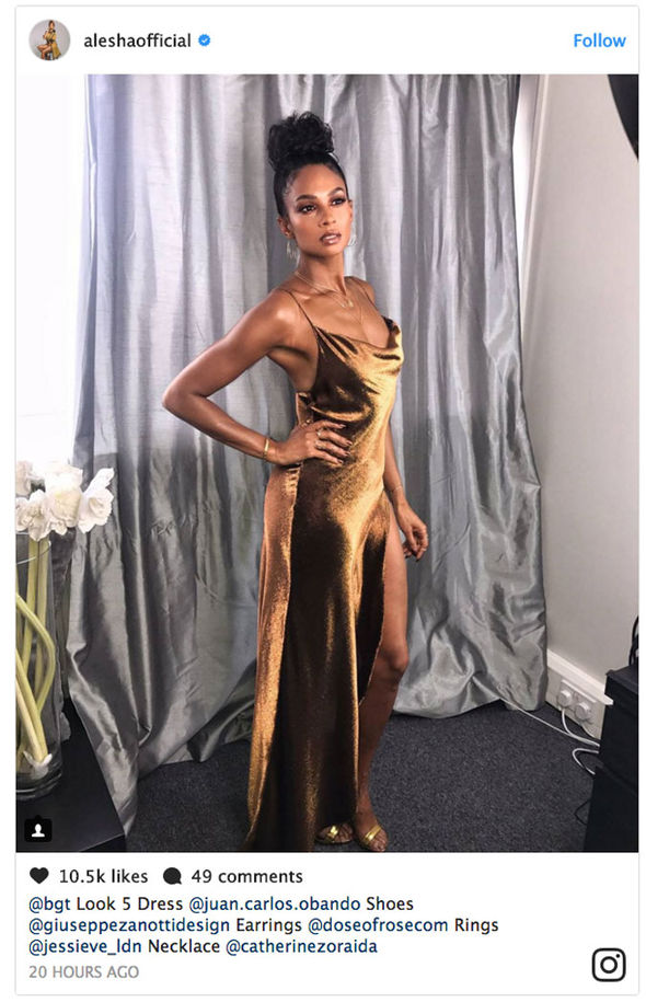 Alesha Dixon Britain's Got Talent sexy dress