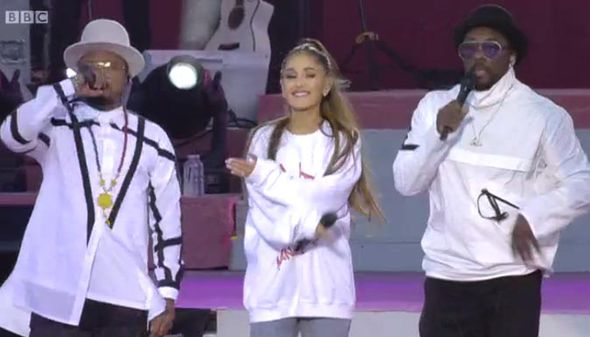 Ariana Grande and Black Eyed Peas