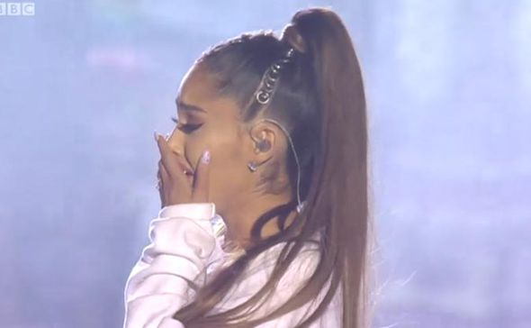 Ariana Grande crying