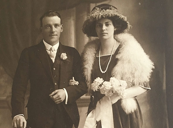 Arthur on his wedding day aged 31