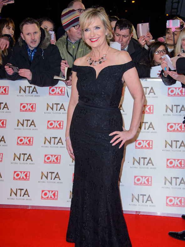 Carol Kirkwood at the National Television Awards 2017