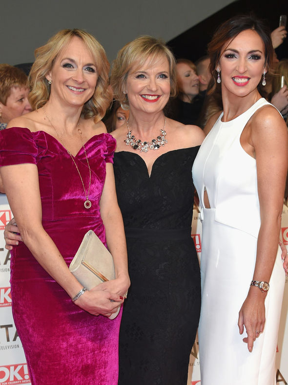 Carol Kirkwood, Louise Minchin and Sally Nugent at the National Television Awards 2017