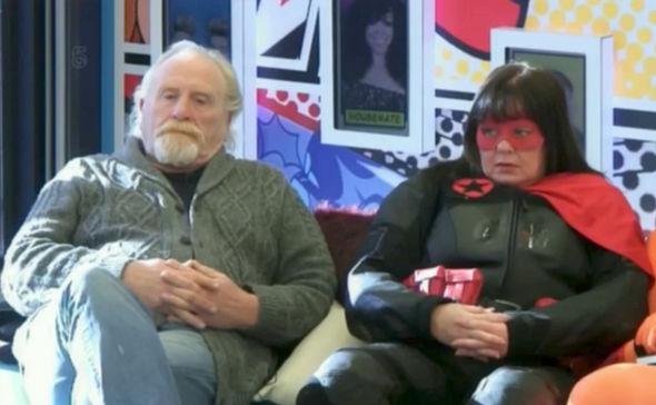 Celebrity Big Brother 2017 James Cosmo superhero costume punished