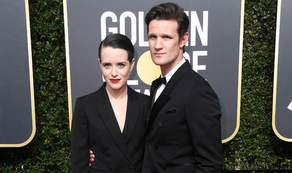 Claire Foy and Matt Smith at Golden Globe Awards