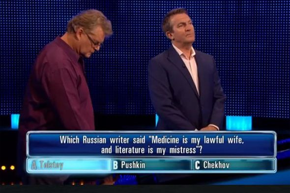 Bradley Walsh and Dave on The Chase